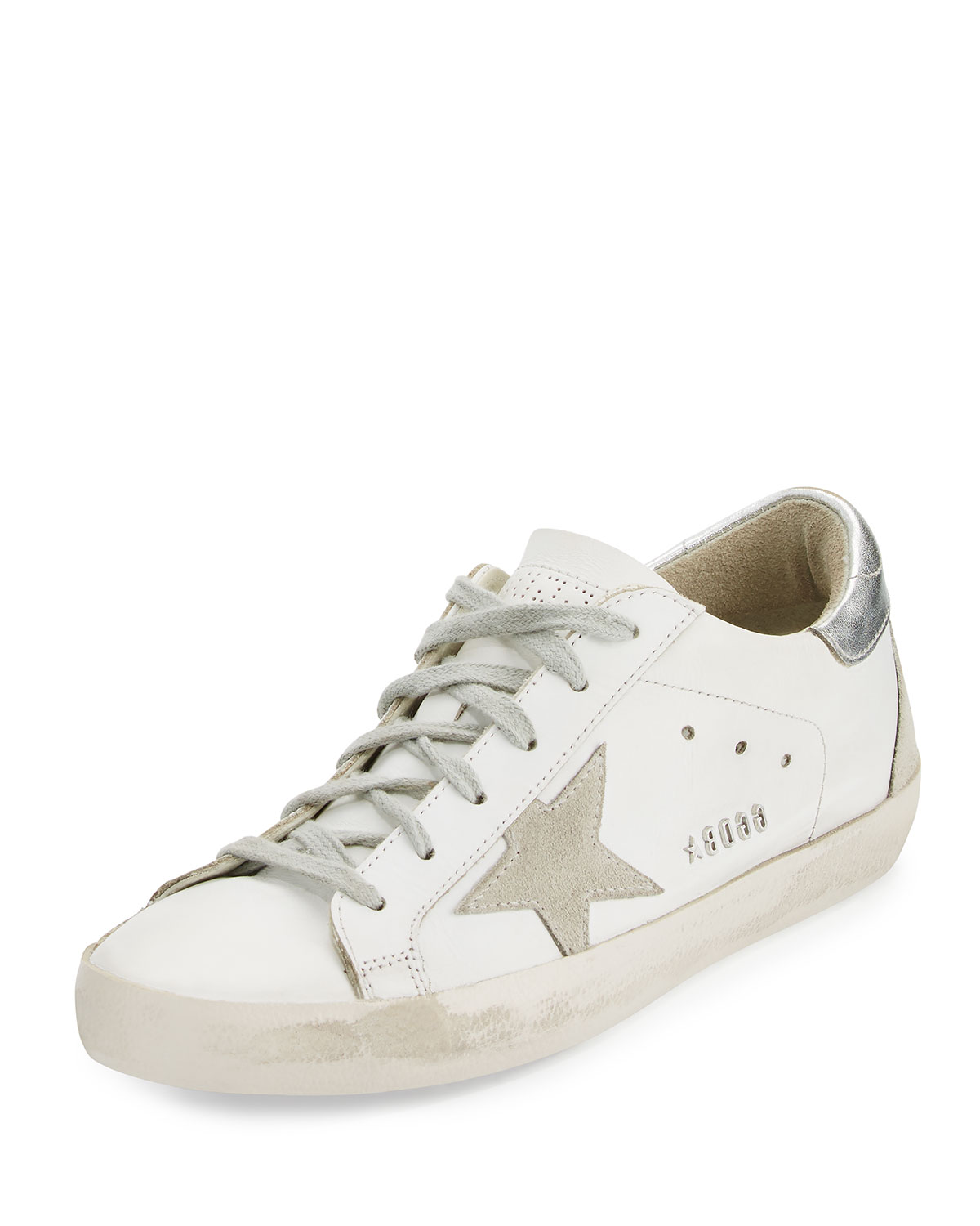 Golden Goose Distressed Leather Low-Top