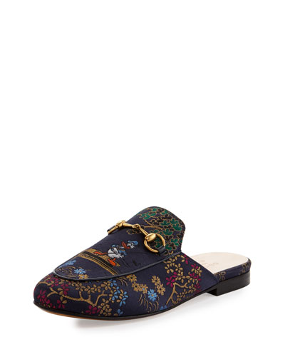 Princetown Donald Duck Horsebit Mule, Purple