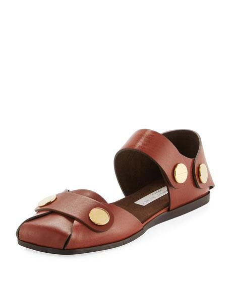 Stella McCartney Ankle-Strap Flat Sandal
