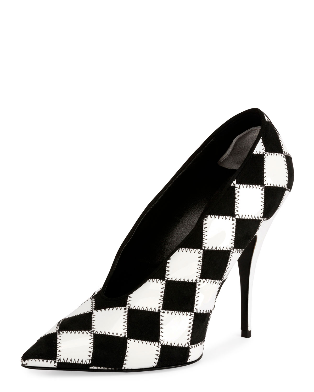 9eba9903c76 Stella McCartney Checkered Pointed-Toe 80mm Pumps