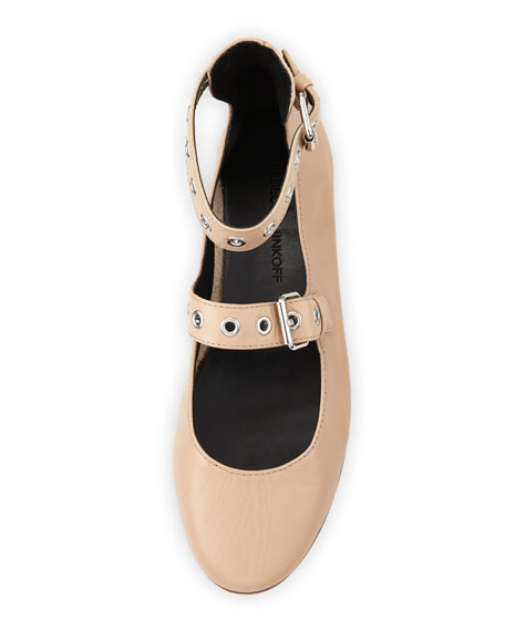 Rachel Grommet Ballerina Flat, Nude