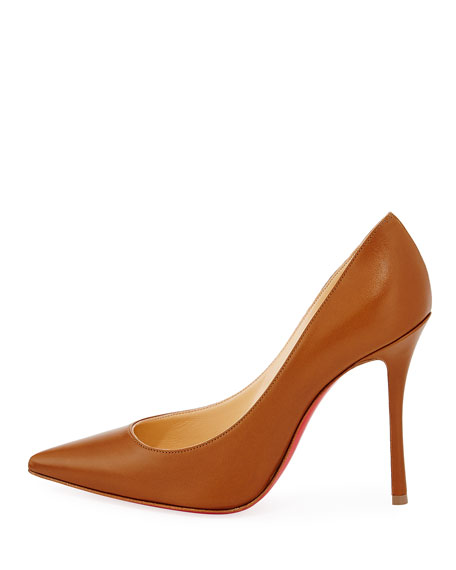 Decoltish Point-Toe Red Sole Pumps, Safari