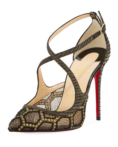 Christian Louboutin Twistissima Crisscross Red Sole Pump,
