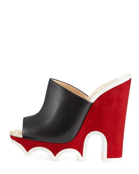 Mulacramp Platform Red Sole Sandal