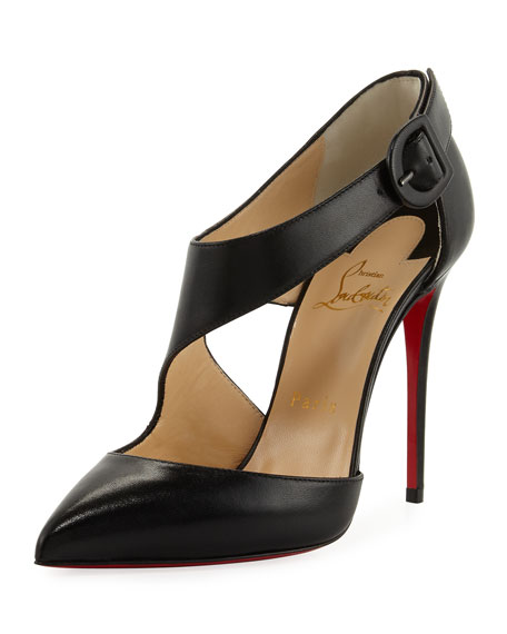 Christian Louboutin Shrpeta Napa Asymmetric Cutout Red Sole