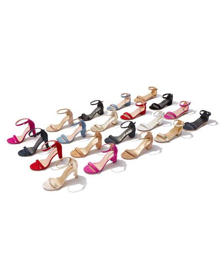 Walkway 90mm Suede Ankle-Wrap Sandal