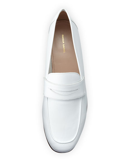 Classic Calfskin Penny Loafer, White