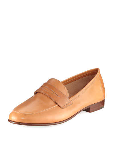 Classic Calfskin Penny Loafer, Tan