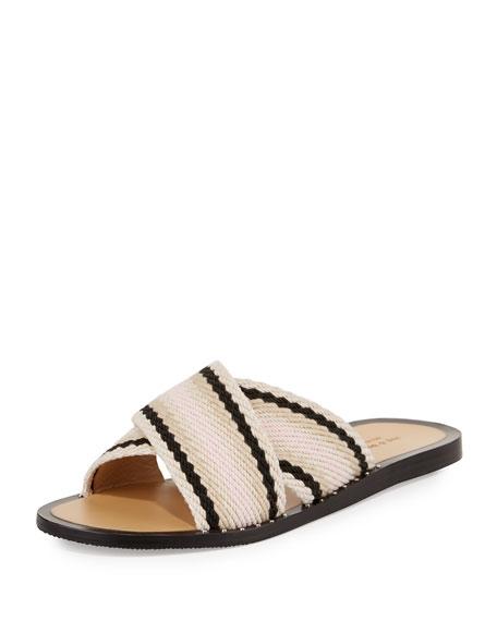 Rag & Bone Keaton Crisscross Flat Slide Sandal,
