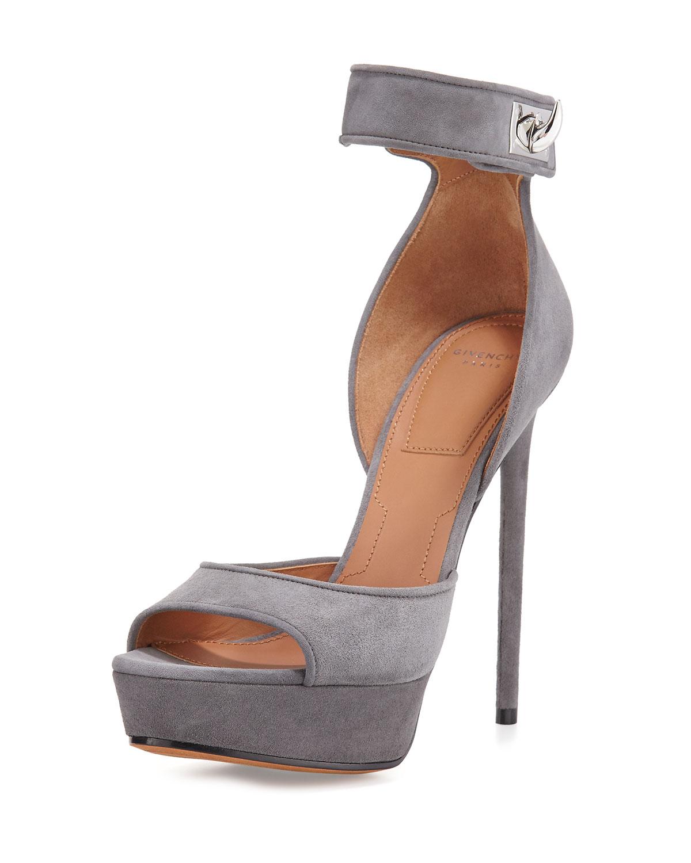 a85e67eddfb Givenchy Suede Shark Lock Sandal