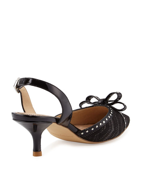 Dede Patent Slingback Sandal, Black
