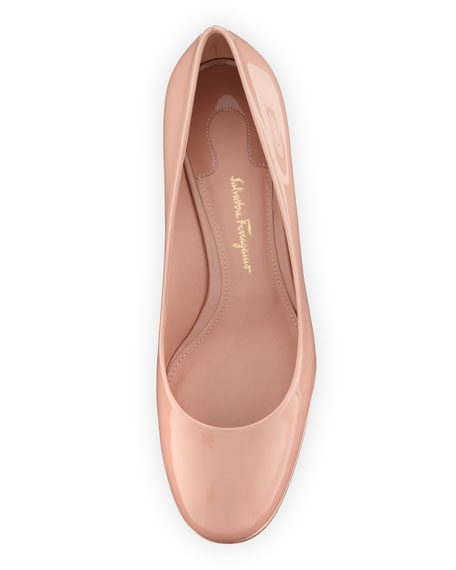 Lucca 55 Patent Cylinder-Heel Pumps, Nude