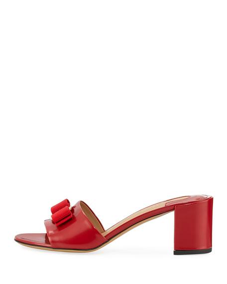 Bow Slide Sandal, Red