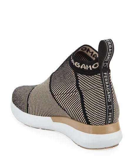 Knit-Stretch Sock Sneaker, Nude