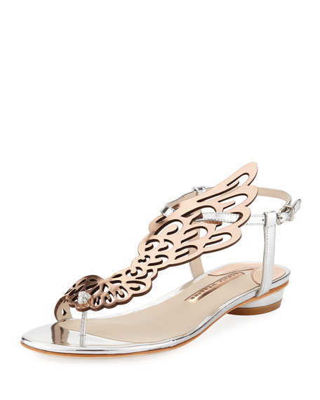 Sophia Webster Seraphina Angel Wings Flat Sandal, Rose