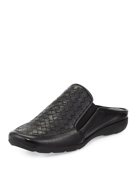 Sesto Meucci Giana Woven Leather Mule, Black