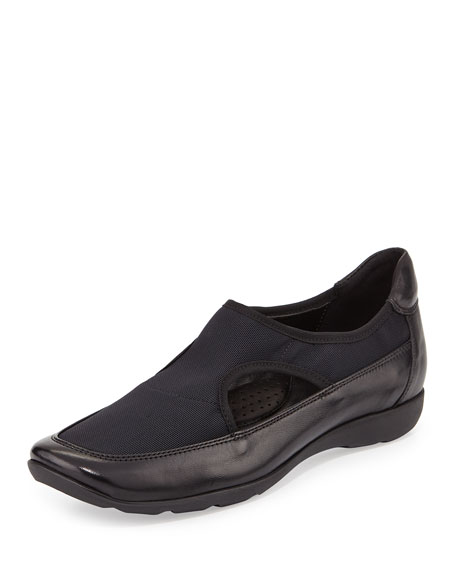 Sesto Meucci Gummy Stretch Sneaker-Style Flat, Black
