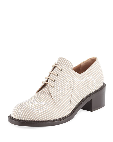 Laurence Dacade Canvas Lace-Up 40mm Oxford