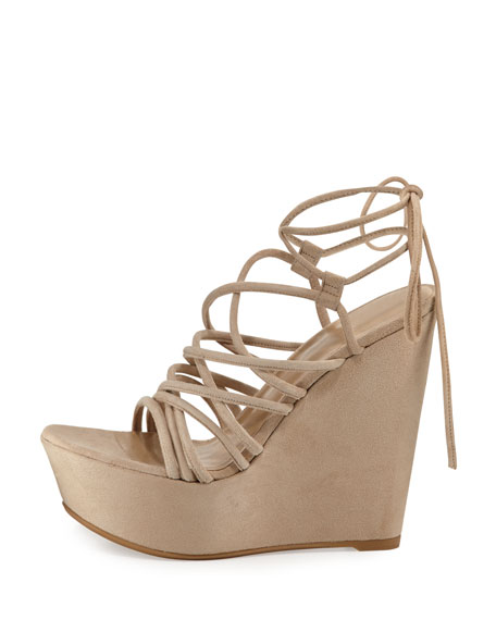 Histrung Suede Lace-Up Wedge Sandal