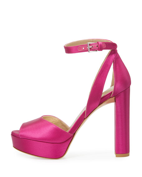 Hijinx Satin Platform Sandal