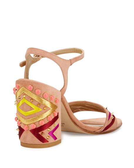 Both Embellished City Sandal, Naked