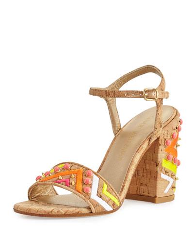 Both Embellished City Sandal, Natural