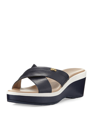 Briella Grand Wedge Sandal, Blue