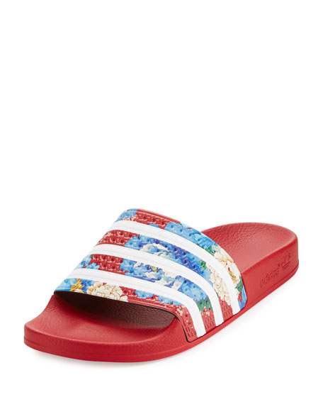Adidas x The FARM Adilette Floral Striped Slide