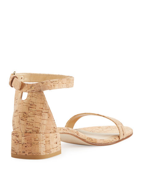 Nudistjune 40mm City Sandal, Natural Cork