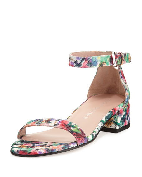 Nudistjune 40mm Printed Ankle-Wrap Sandal