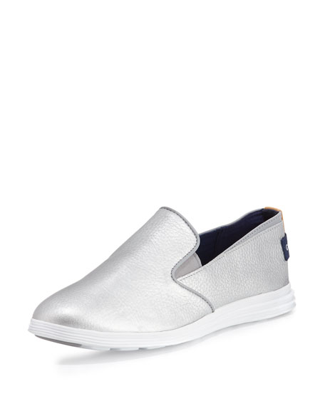 Cole Haan Ella Grand 2 Slip-On Sneaker, Metallic