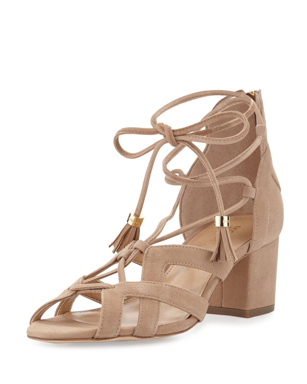 3a8c755f33c5 MICHAEL Michael Kors Mirabel Suede Lace-Up Sandal