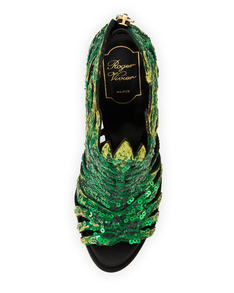 Paillette Palm Sandal
