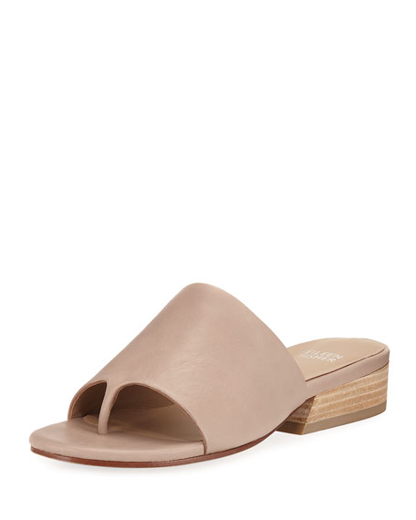 Eileen Fisher Beal Wide-Band Slide Sandal, Sand