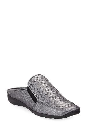 Sesto Meucci Giana Woven Leather Mule, Gray