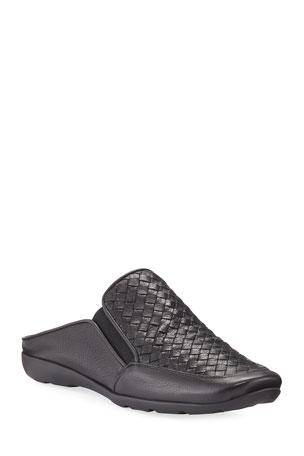 Sesto Meucci Giana Woven Leather Mule, Black