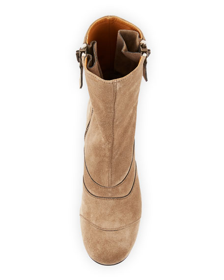 Lexie Short 30mm Boot, Dark Beige