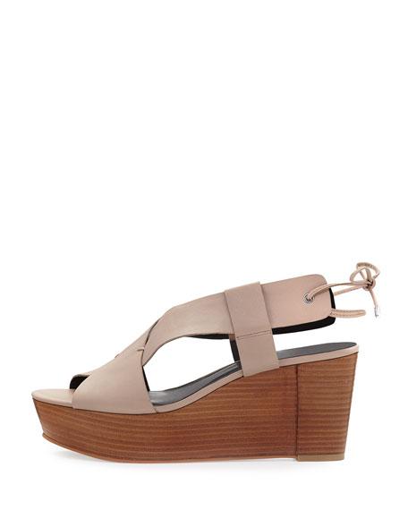 Calla Wedge Platform Sandal, Nude