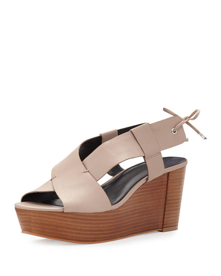 Rebecca Minkoff Calla Wedge Platform Sandal, Nude