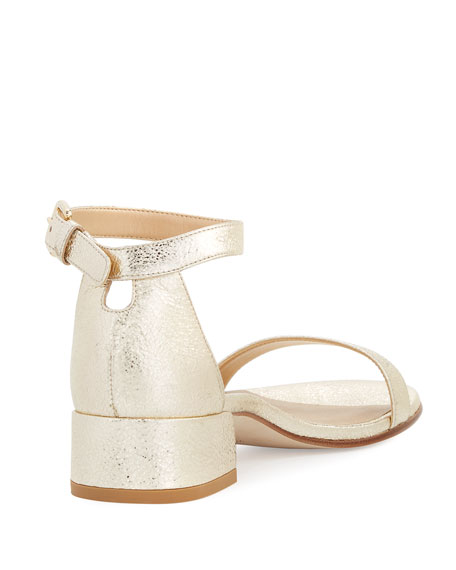 Nudistjune Suede Low City Sandal, Gold