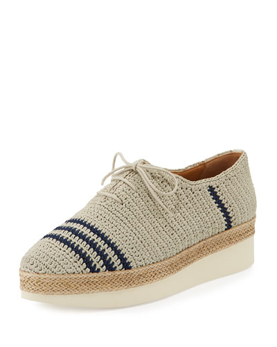 Paddle Crochet Lace-Up Oxford, Multi