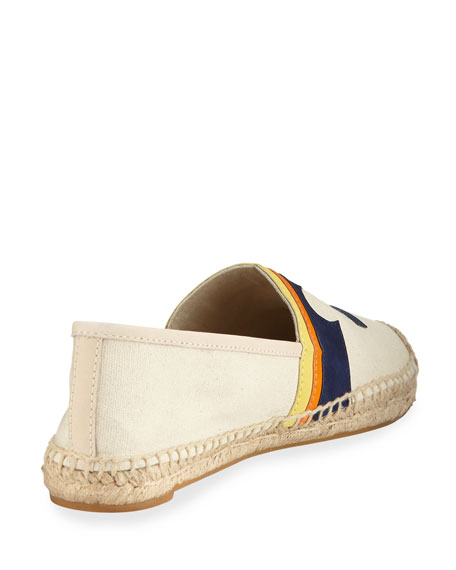 Laguna Palm Tree Espadrille, Light Beige