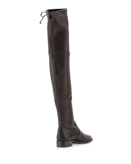 Lowland Stretch-Leather Over-the-Knee Boot
