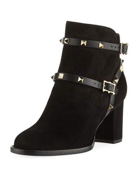 Valentino Suede Fur-Trimmed Ankle Boots clearance pictures buy cheap 100% original 8vQTS1A