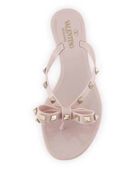 Jelly Rockstud Flat Thong Sandal
