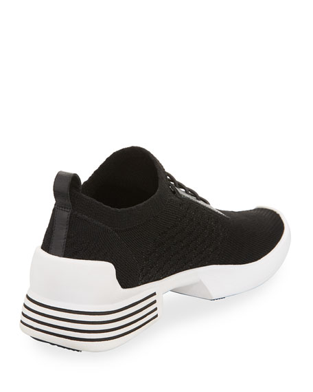 Brandy Woven Fabric Trainer, Black