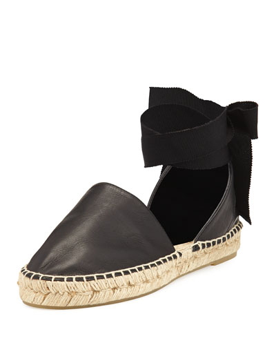 Raelin d'Orsay Flat Espadrille Sandal, Black