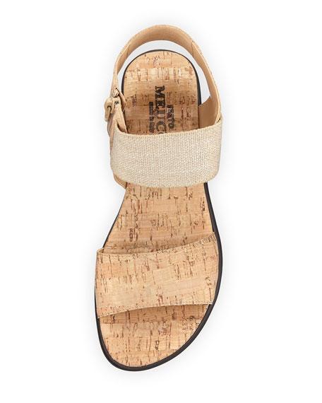 Elki Demi-Wedge Flat Sandal, Neutral