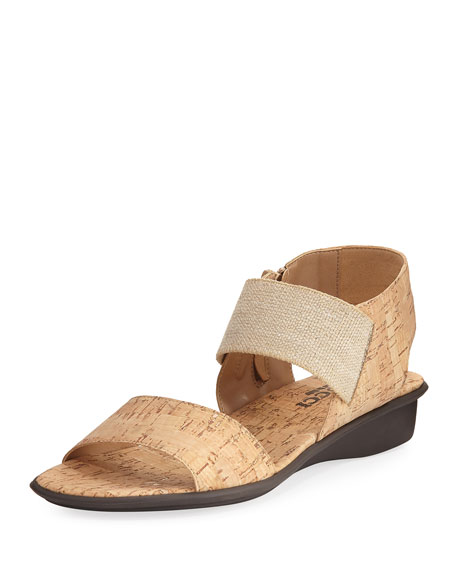 Sesto Meucci Elki Demi-Wedge Flat Sandal, Neutral