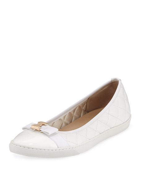 Sesto Meucci Fanya Quilted Ballerina Sneaker, White